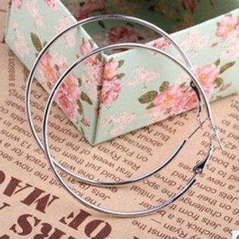 Fancytoy New Fashion Silver Plated Round Big Large Hoop Huggie LoopEarrings Jewelry New - - intl