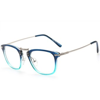 Fashion Cute Style Eye Glasses Frames for Women Men Clear Glasses Vintage Spectacle Frames Woman Retro Eyeglasses H9003-06 (Double Color)
