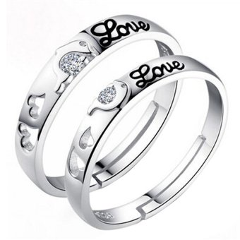 Fashion Dolphin Love Silver Couple Rings Wedding Bands Promise Love Jewelry Gift