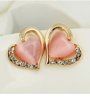 Fashion female anti-allergy pearl earrings stud