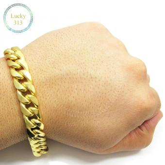 Fashion Gold Plated Curb Link Chain Bracelet for Men