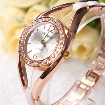 Fashion imitation ceramic student bracelet watch women's watch
