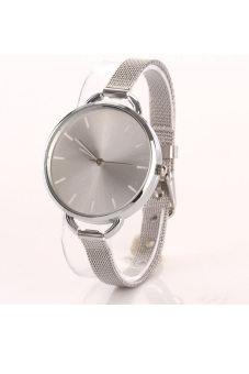 Fashion Luxury Silver Quartz Lady Women Wrist Watch