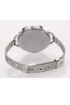 Fashion Luxury Silver Quartz Lady Women Wrist Watch - picture 2