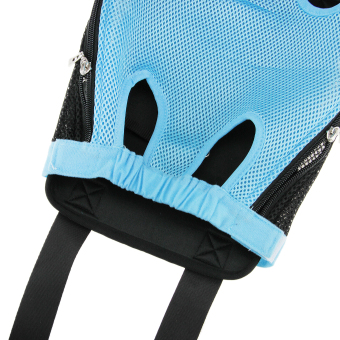 Fashion Pet Dog Doggy Sling Legs Out Design Outdoor Travel DurableNylon Portable Mesh Front Chest Pack Carrier Backpack Shoulder BagFor Dogs Cats Puppy Carriers Pet Holder(Blue,L) - 5