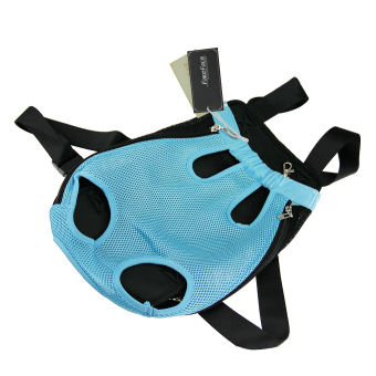 Fashion Pet Dog Doggy Sling Legs Out Design Outdoor Travel DurableNylon Portable Mesh Front Chest Pack Carrier Backpack Shoulder BagFor Dogs Cats Puppy Carriers Pet Holder(Blue,L) - 3