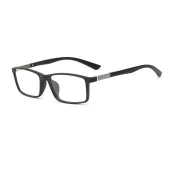 Fashion Rectangle Glasses Black Frame Glasses Plain for Myopia Men Eyeglasses Optical Frame Glasses Oculos Femininos Gafas - Intl