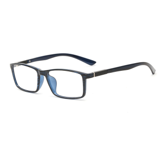 Fashion Rectangle Glasses Blue Frame Glasses Plain for Myopia MenEyeglasses Optical Frame Glasses Oculos Femininos Gafas - Intl