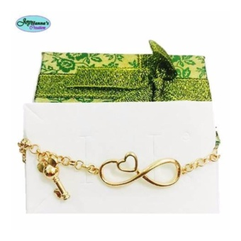 Fashion rosegold charm bracelet- infinity with key Price Philippines