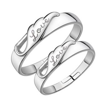Fashion Silver Plated Jewelry Couple Rings White Topaz Gemstone Wedding Ring Set