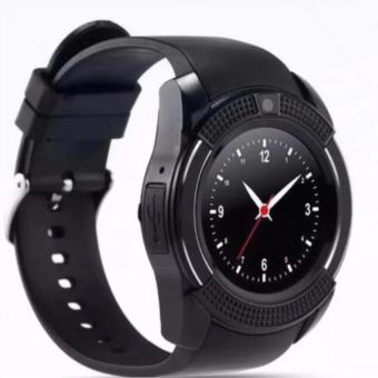 Fashion Style Touchscreen Smart Watch Support Sim Card Bluetooth Connectivity (Black)V8