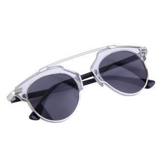Fashion Unisex Women Men Retro Sunglasses Vintage Eyewear all black - picture 2