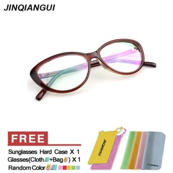Fashion Vintage Retro Cat Eye Glasses Brown Frame Glasses Plastic Frames Plain for Myopia Women Eyeglasses Optical Frame Glasses Oculos Femininos Gafas