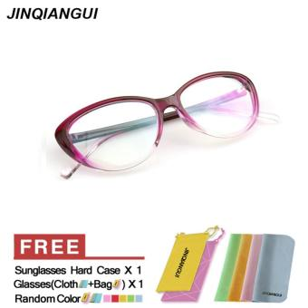 Fashion Vintage Retro Cat Eye Glasses Purple Frame Glasses Plastic Frames Plain for Myopia Women Eyeglasses Optical Frame Glasses Oculos Femininos Gafas