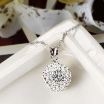 Fashion Women's 925 Sterling Silver chain crystal rhinestoneNecklace Pendant