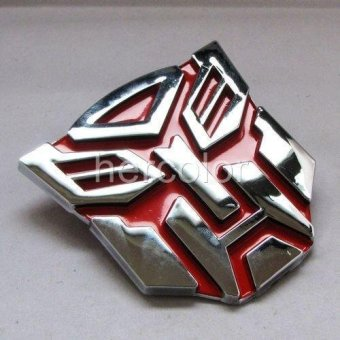 Fashionable TRANSFORMERs autobots Car Truck Badge Sticker Red -intl