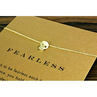 FEARLESS pendant necklace gold dipped 06 grams