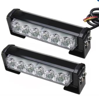 Promo 2x4 federal light bar strobe blinker white today review federal led strobe light blinkers drl with remote 2in1 color 6bulbs all white aloadofball Choice Image