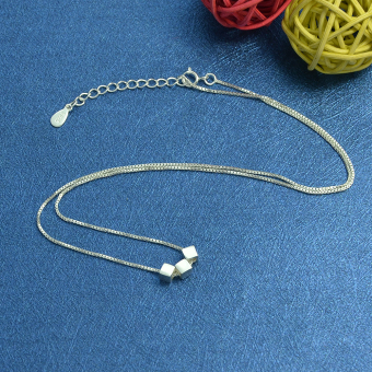 Feelontop New Design 925 Silver Chain Necklaces for Lady - Intl - 4