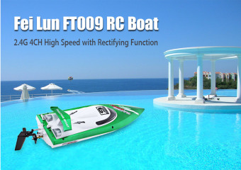 FeiLun FT009 2.4G RC Racing Boat High Speed Yacht(Green)