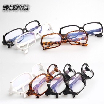 Female anti-Blueray near-sighted eye protection goggles radiation glasses