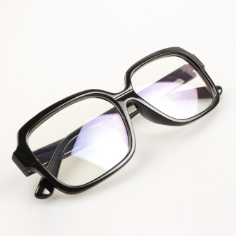 Female radiation protected blue film anti-glasses plain mirror