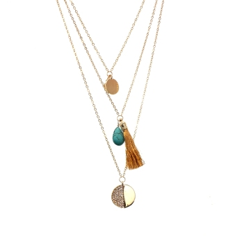 Fine European and American multi-layer gold broken cool necklace