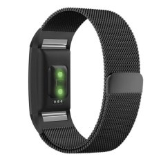 Fitbit Charge 2 Band,Milanese Loop Stainless Steel Metal BraceletStrap with Unique Magnet Lock -