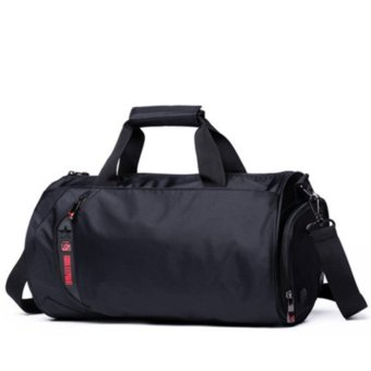 Fitness Bag Sports Bag Basketball Training Package Football Package Hand Travel Package Cylinder Package Shoulder Travel Bag-L Size: 50x26x26cm - intl