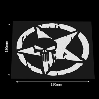Five-pointed star Body Decor Skull head Auto Motorcycle Sticker CarStickers and Decals Car Styling 13*13CM - intl - 5