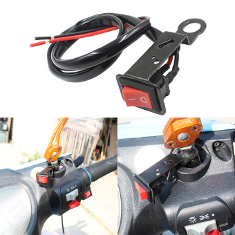 Flameout Switch With Fixed Wiring Harness for Motorcycle Electromobile - 2