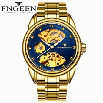 FNGEEN automatic mechanical watch on behalf of the Korean version of the business double-sided hollow men's watches waterproof mechanical gifts watches - intl