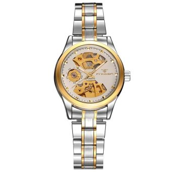 FNGEEN Brand Women's Automatic Mechanical Hollow Out Waterproof Business Stainless Steel Strap Wrist Watch - intl