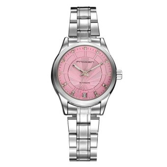 FNGEEN Brand Women's Fashion Exquisite Automatic Mechanical Stainless Steel Strap Calendar Display Waterproof Business Wrist Watch - intl