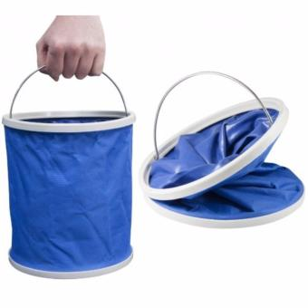 Foldable Water Bucket Collapsible Pail (Blue) Water Container water bag