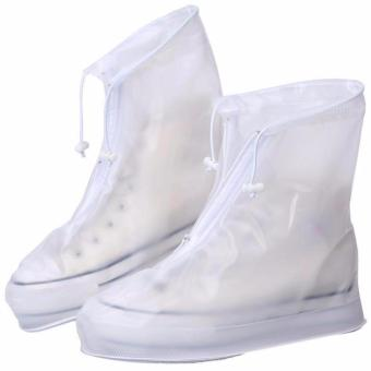 Foldable Waterproof Rain Shoes Cover With Rubber Sole 28.5cm - 3
