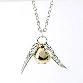 FOR Harry Potter And The Deathly Hallows Necklace Gold SnitchSilver