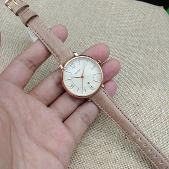 Fossil es3435es3487 rose gold ultra-thin with numbers scale women's watch Fossil