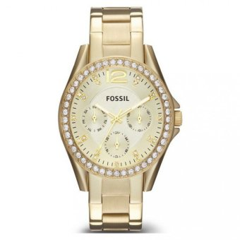 Fossil Riley Womens Gold Stainless Steel Strap Watch ES3203 - intl