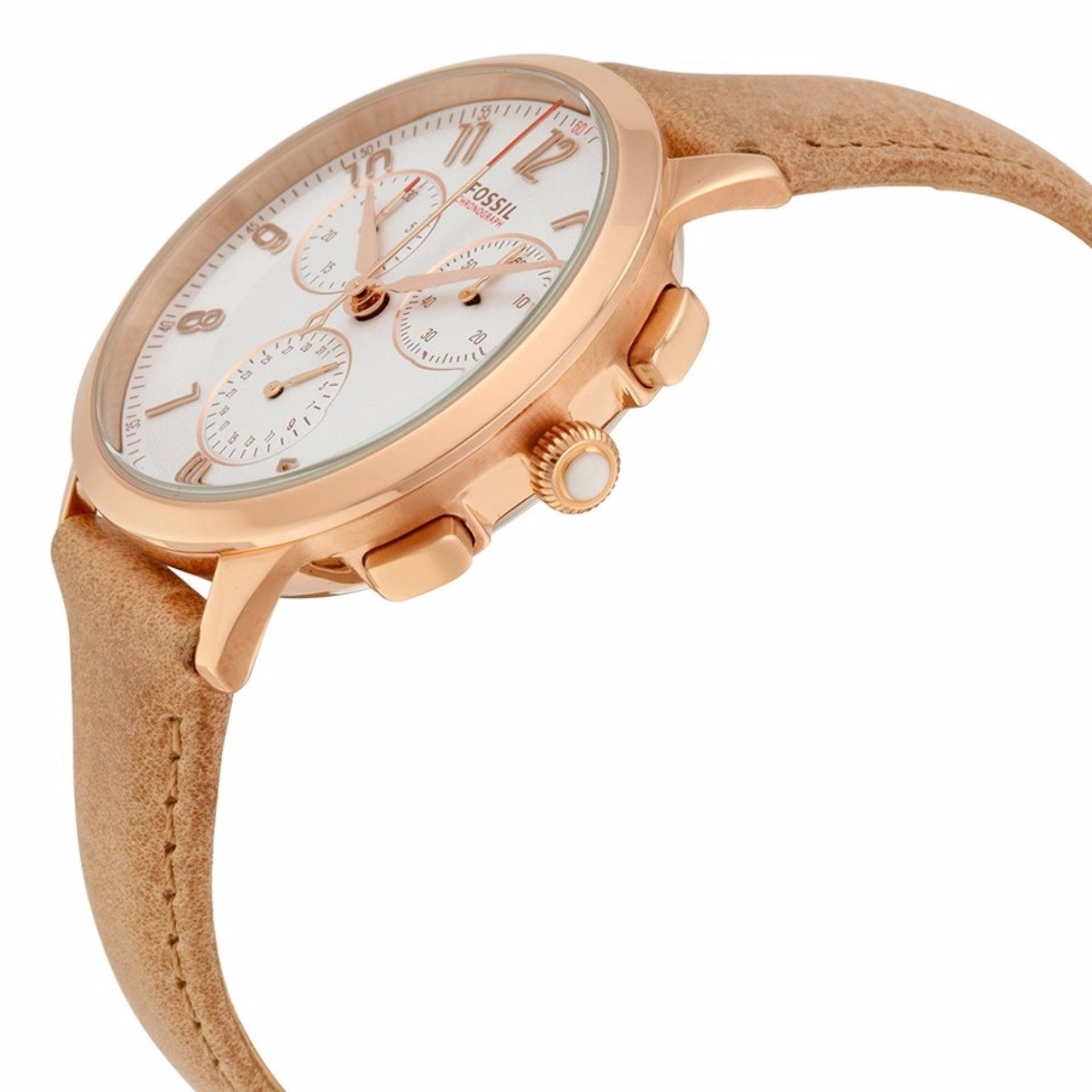 Philippines Fossil Womens Abilene Beige Chronograph Leather Watch Fs5170 Ch3016