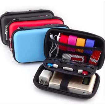 FREE Data Cable + Waterproof 2.5 Inch Travel Electronics DigitalGadgets Organizer Bag Storage Hard Case (Black) - intl - 2