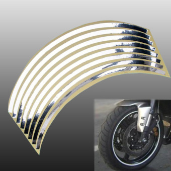 Freebang 17' Motorcycle Bike Car Wheel Rim Reflective Metallic Stripe Tape Decal Sticker