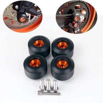 Front & Rear Fork Wheel Frame Slider Crash Protector For KTM RC 125 200 390 Duke