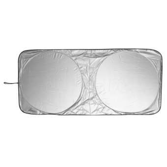 Front Rear Windshield Car Window Foldable Shade Shield Cover VisorUV Block - Intl - intl
