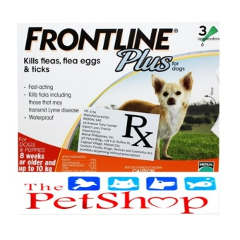 Frontline Plus Spot On For Dogs 8 Weeks To 10kg Small Breed (3 Pipet/Box)