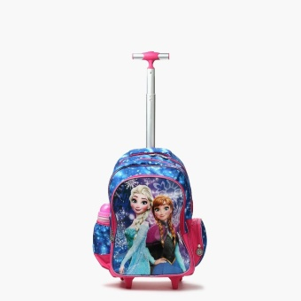 Frozen Girls Anna and Elsa Light Up Trolley Backpack