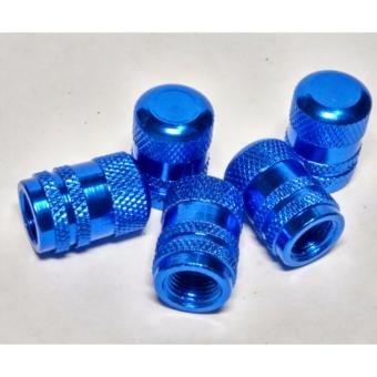 Fuji Blue Flare Tire Valve Caps Set of 5PCS