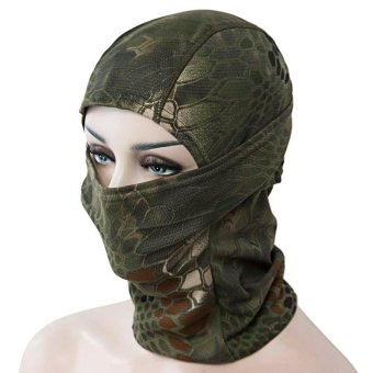Full Face Motorcycle Tactical Skiing Cycling Face Mask(Army Green) - intl
