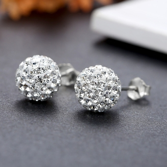 Fuyi female silver earrings silver stud