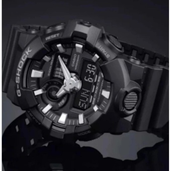 G-S GA-700-1B The Newest Black Resin Strap Watch